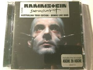 RAMMSTEIN Sehnsucht RARE Australian Limited Tour Edition 2 CD with Hype Stickers