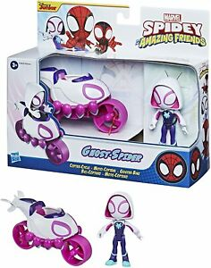 Marvel Spidey and His Amazing Friends Ghost Spider Action Figure & Copter Cycle