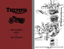 Triumph Replacement Parts for 1949 Models 3T De Luxe, Speed Twin, Tiger 100