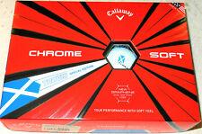 CALLAWAY TRUVIS LTD EDITION CHROME SOFT 'SCOTTISH' GRAPHENE GOLF BALLS 1X12 NEW