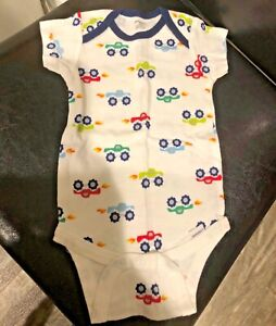 White Monster Truck Baby One Piece Bodysuit Size 12M Onesies AWESOME!