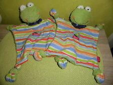 2 x  Frosch   FORTIS  ca 27 cm   ( wie Neu )  Schmusetuch  Kuscheltuch  SIGIKID