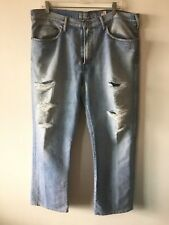 Guess Modele Straight Leg Boot Cut Jeans Distressed Light Wash Men's Size 38