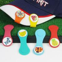 Detachable Ball Marker Magnetic Silicone Golf Hat Clip for Golf Cap Visor