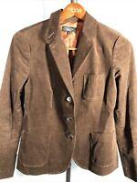Talbots Size 14 Lined Brown Corduroy Blazer - Really Nice! Pretty