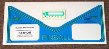 Bally Fathom Pinball Machine Apron Decal Set LICENSED