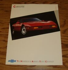 Original 1987 Chevrolet Corvette Fact Sheet Sales Brochure 87