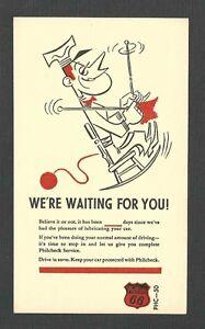 Ca 1951 PC PHILLIPS 66 PETROLEUM CO FOR PHILCHECK SERVICE, MINT