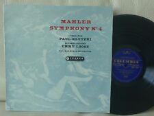 COLUMBIA 33CX 1541 MAHLER symphony no.4 KLETZKI LOOSE 1958 UK BLUE GOLD ED1 LP