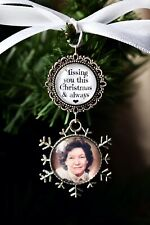 Memorial Christmas Tree Decoration Personalised Photo Bauble Gift Memory Charm