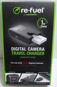 Digipower - Digital Camera Travel Charger for Canon Batteries (NB4L, NB6L, NB8L)
