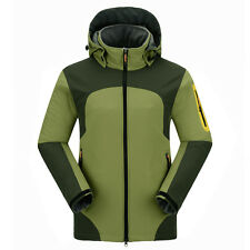 Mens Breathable Thermal Waterproof Soft Shell Jacket Clothes Outdoor Travel Coat