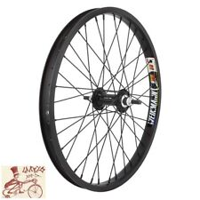 "WHEEL MASTER  WEINMANN DOUBLE WALL 20"" x 1.75""  ALLOY BLACK BICYCLE FRONT WHEEL"