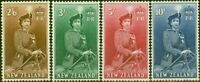 New Zealand 1954-57 set of 4 Top Values SG733d-736 V.F MNH