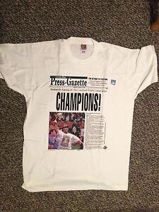 Green Bay Packers Champion Press-Gazette XL T-Shirt Monday January 27, 1997 New