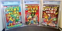 Luke Cage Hero For Hire # 4 & 6 & 11 CBCS 8.5 8.0 7.0 Marvel 1972- 1973 Jewelers