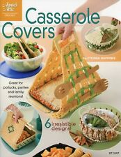 Casserole Covers, Handy Casserole Carriers & Covers crochet pattern booklet NEW