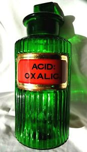 green chemist pharmacy apothecary poison bottle 1930