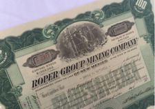 Stock Certificate - ROPER GROUP MINING CO, 1920   --  115