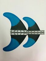 NEW Quad 4 FIN Style FUTURE Compatible HEXCORE Surfboard Fins! Middle/BLUE
