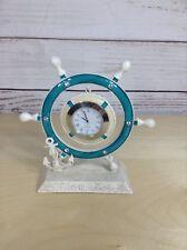 Captains Wheel Clock Anchor Nautical Decoration