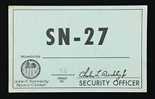 APOLLO 16  SN-27 ORIGINAL VEHICLE PASS PERMIT LOW ISSUED SERIAL NUMBER 14