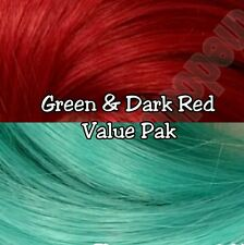 Red & Sea Foam Green XL 4oz 2 Color Value Pack Nylon Doll Hair Hanks Rerooting