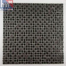 Mosaico de vidrio mudanca piedra natural Negro 29 , 5x29, 5x0, 6cm Pool, Baño