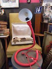 "ISAO HOSOE : LAMPE SERPENT ""EBI"" Rouge 1970 VINTAGE SPACE AGE 70's SNAKE LAMP"