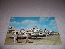 1960s Naval Air Reserve 50th Anniversary Sign & A-4 Skyhawks at Memphis Postcard