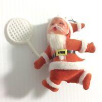 VTG Santa Sports Christmas Ornament Lot Tennis Soccer Baseball Man Cave Decor