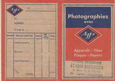 Pochette photos ancienne photographiez avec AGFA 1950