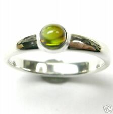 GREEN TOURMALINE RING IN SILVER