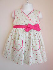 NEW Girls Sz 24M Floral Dress Bloomers Hat Light Green Check Pink Baby Togs 3 Pc