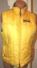 RALPH LAUREN SKI Vest REVERSIBLE PUFFER body warmer JACKET YELLOW GRAY L