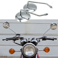 Chrome Motorcycle Rearview Side Mirrors for Honda CB350 CB360 CB450 CB500T CB550