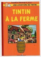 PASTICHE. Carte postale Tintin. TINTIN A LA FERME -  Hors Commerce 2015