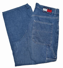 eca34620f Tommy Hilfiger Vintage Carpenter Jeans Mens Sz 34x28 Big Flag Spellout Loop  90s
