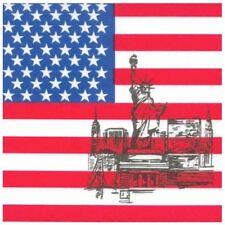 USA Dekoration, Servietten Amerika, 50 amerikanische Servietten