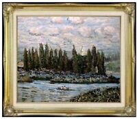 Framed Hand Painted Oil Painting Repro Claude Monet Vetheuil Sur Seine, 20x24in