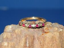 Ruby & Diamond Band Ring - Stack/Any Occasion Sz 6  14k Yellow Gold