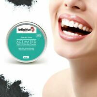 Activated Charcoal & Coconut Teeth Tooth Whitening Powder Mint Natural Organic