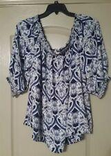 Cato Womens Shirt Plus Shirt Blue 22/24W