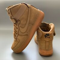 Nike Air Force 1 Women's Shoes Size 5.5 Brown Trainers EUR 38.5 High Top Boots