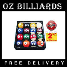 "Quality 2"" Pool Balls Set All-Size 16 Billiard Balls Complete Set Free Postage"