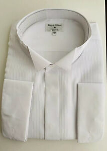 Mens Lloyd Attree & Smith Shirt White Dinner Tuxedo Evening Dress Double Cuff