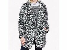 BANANA REPUBLIC Cocoon Coat Black and White Leopard Print sz M NEW