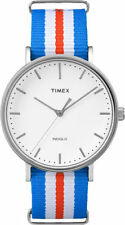 Timex TW2P91100, Men's Weekender Striped Fabric Watch, Indiglo, TW2P911009J