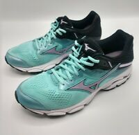 Mizuno Womens Wave Inspire 15 Teal Purple Black White Running Shoes Size 9.5