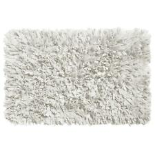 Carnation Home Paper Shag Cotton / Poly Blend Bath Mat White
